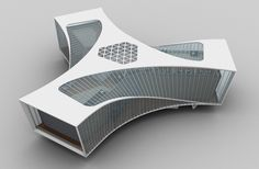 Gallery of Prince Bay Marketing Exhibition Centre / AECOM - 32 Parametric Architecture, Parametric Design, Concept Architecture, Futuristic Architecture, Sustainable Architecture, Amazing Architecture, Interior Architecture, Triangular Architecture, Architecture Drawings