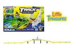 Track racing race tracks over a magnificent city bridge includes 2 stylish super fast pull back cars GO! GO! children love this toy! great gift set for boys and girls ** This is an Amazon Affiliate link. Want to know more, click on the image.