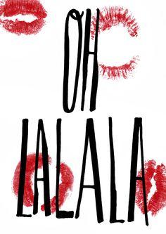 #lips #oh #lala #design #poster #art #graphic #graphicdesign #onegirlshow #handwriting