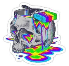 Buy 'Trippy Colorful Skull' by as a Sticker, iPhone Case, Case/Skin for Samsung Galaxy, Transparent Sticker, or Glossy Sticker Art Pop, Psychedelic Art, Dibujos Tumblr A Color, Psy Art, Skull Art, Dark Art, Art Inspo, Amazing Art, Awesome