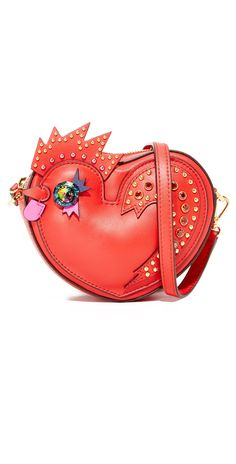 MCM Rooster Heart Coin Case | SHOPBOP