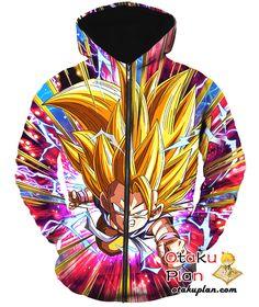 DBZ Focused on Victory Super Saiyan 3 Goku (GT) Tank Top - Dragon Ball Z 3D Tank Tops And Clothing
