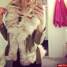 ♥faux fur coat