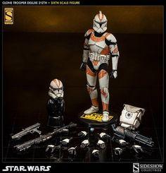 "Star Wars - Clone Trooper 212th Battalion 12"" Figure Sideshow"
