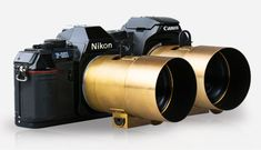 The Lomography Petzval Lens attached to analogue Canon and Nikon SLRs.  A Legendary 19th Century Lens. Reinvented For Use With All Nikon F & Canon EF Mount Analog & Digital SLR Cameras.