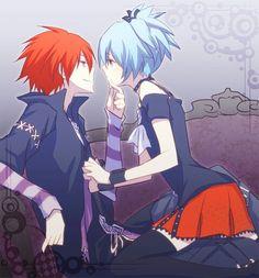 Karma and Nagisa.