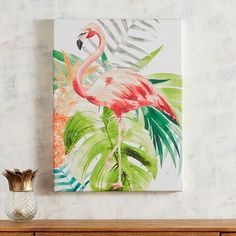 Tropical Flamingo Art