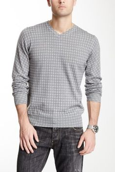 Houndstooth Wool Sweater
