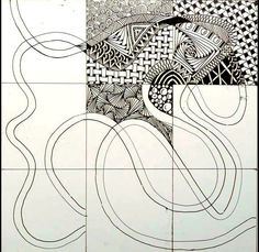 Great Ensemble string idea from The Zentangle Inspired Art Project -1 | Xplore & Xpress