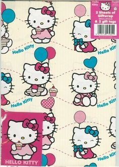 bef0723a54 Hello Kitty Gift Wrap with Gift Tags by Hello Kitty     Want additional info