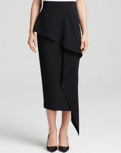 Here is the new Milly Italian cady stretch cascade midi skirt. Get it at Très Chic Styling Montreal.