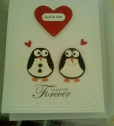 Owl punch to make penguin wedding card  @Stacie Sonnakolb I want an owl punch so I can make this