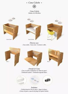 Picture result of handmade cots - baby room Baby Crib Diy, Baby Cribs, Baby Beds, Baby Bedroom, Baby Room Decor, Room Baby, Colecho Ideas, Co Sleeper Crib, Newborn Bed