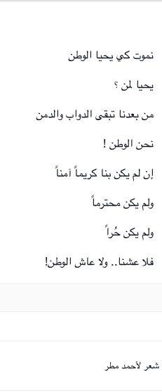 فلا عشنا ولا عاش الوطن، أحمد مطر