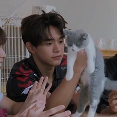 the cute boy with a lazy cat Lucas Nct, Taeyong, Jaehyun, Jung So Min, Nct 127, Shinee, Nct Dream Renjun, Nct Life, Memes
