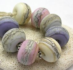 Organic Handmade Lampwork Glass Beads - Dawn Beach #id So now, how to do that with polymer clay? Have an idea?