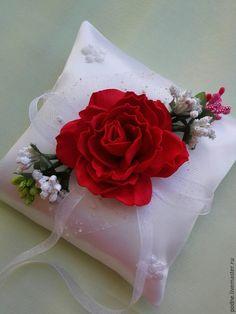 Купить подушечка для колец - подушечка для колец, подушечка на свадьбу, свадьба в розовом, обручальные кольца, розовый