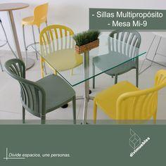 Dale un toque diferente a tus espacios y crea ambientes modernos. Outdoor Furniture Sets, Outdoor Decor, Home Decor, Environment, Spaces, Chairs, Mesas, Trendy Tree, Colors