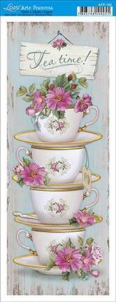 Tea and related items Decoupage Vintage, Vintage Diy, Vintage Cards, Vintage Images, Diy And Crafts, Arts And Crafts, Paper Crafts, Etiquette Vintage, Tea Art
