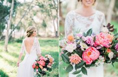 Colorful Spring Bridal Session – Style Me Pretty