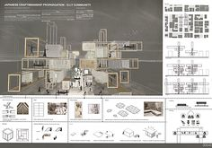 portfolio ideas for architecture students Concept Board Architecture, Architecture Presentation Board, Architecture Panel, Presentation Layout, Architecture Student, Architecture Portfolio, Architecture Design, Japan Design, Minecraft Architecture