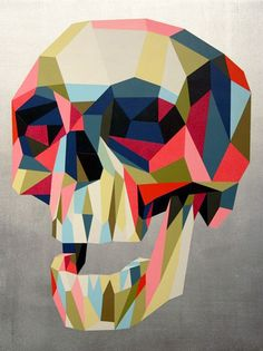 multi color skull