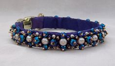 Items similar to Purple Glitz Luxury Dog Collar Hand Beaded with Freshwater Pearls and Iridescent Glass Beads on Etsy Luxury Dog Collars, Pet Collars, Dog Belt, Renaissance Fashion, Gold Glass, Seed Beads, Turquoise Bracelet, Glass Beads, Beaded Bracelets