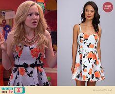 Liv's grey floral dress on Liv and Maddie.  Outfit Details: http://wornontv.net/39115/ #LivandMaddie