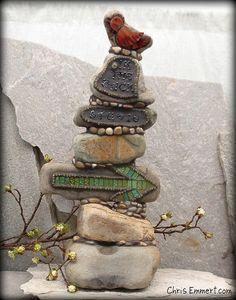 Mosaic Rock Totem Studio Sign | Flickr - Photo Sharing!