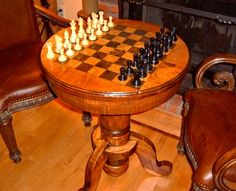 I want a chess table in the family room.