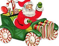 Vintage Santa Graphics