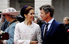 royaldanishlove:  Danish State Opening of Parliament, October 7, 2014-Crown Prince Frederik and Crown Princess Mary