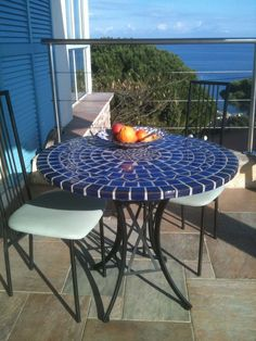 Extra light fiber glass round mosaic table top 90 cm