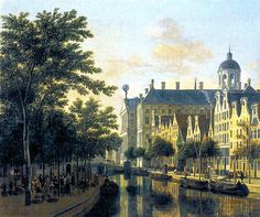 Berckheyde, Gerrit (Dutch, !638-1698) - The Nieuwezijds Voorburgwal in Amsterdam -1686 | Flickr - Photo Sharing!