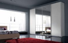 Mirrored Sliding Doors Wardrobe. They have these at ikea and i love them.