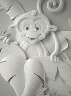 Este foi um trabalho muito legal de fazer. As três esculturas foram criadas para ilustrar o catálogo da Ninali, marca infantil da Fruto da I...