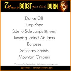 7 Moves to Boost your Calorie BURN!