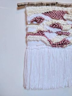 Medium woven Wall Hanging / Mother of Pearl Weave / woven