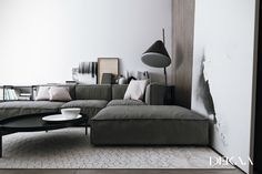 contemporary minimalist interior decorated with shades of gray 4