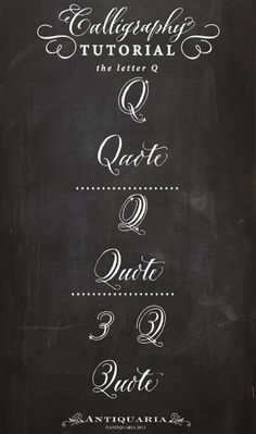 """Calligraphy tutorials """"Q"""""""