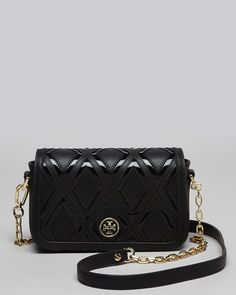 1272772bfe6 Tory Burch Black Shoulder Bag Robinson Patchwork Mini Chain Tory Burch Bag