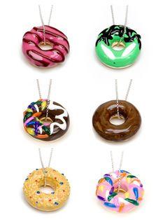 Doughnut necklace Cute Different Pretty Food.