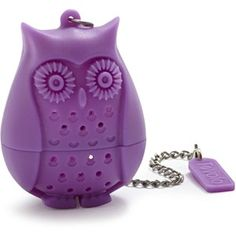 A loose tea infuser of any kind.  Nothing fancy. This purple owl is super cute though.  The infuser Daddy got me thriftin' has got a piece missing.  Apparently it is the one part that keeps it closed when you put it in water.  LOL!
