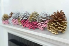 Painted Pinecone DIY - Cupcakes