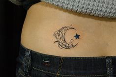 crescent moon tribal tattoo by naoto,TIFANA TATTOO