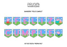 Cumple Peppa Pig, George Pig, Pig Party, Monsters Inc, Banner, Letters, Logos, Birthday, Fiesta Decorations