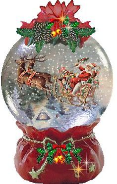 Christmas Stories - would love to add this to my Christmas snow globe collection! Merry Christmas, Christmas Snow Globes, Christmas Scenes, Christmas Pictures, Winter Christmas, All Things Christmas, Vintage Christmas, Christmas Time, Illustration Noel