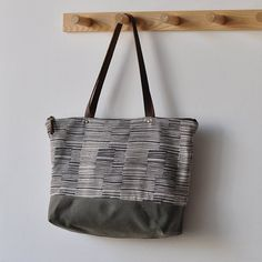 ZIP TOTE lines by bookhouathome on Etsy