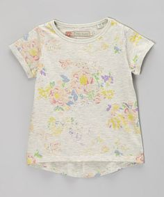 Pair these with some colorful skinny jeans or pastel shorts. Oatmeal Blossom Tee - Girls by Free Planet #zulily #zulilyfinds