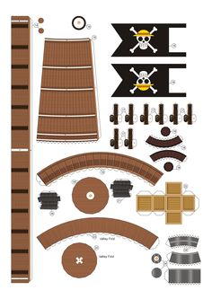 PaperToy - One Peace - Going Merry Part 03 003